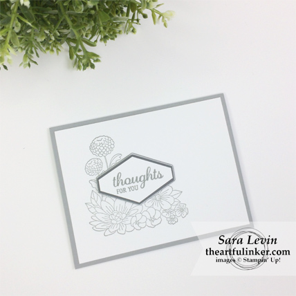 Accented Blooms Sympathy Card from theartfulinker.com