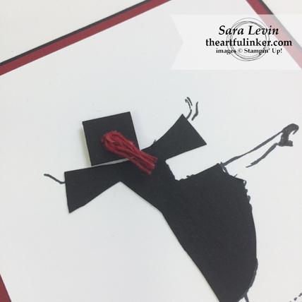 Beautiful You Graduation card - detail - from theartfulinker.com