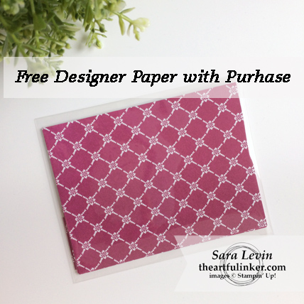 Free Designer Paper with Purchase* from theartfulinker.com