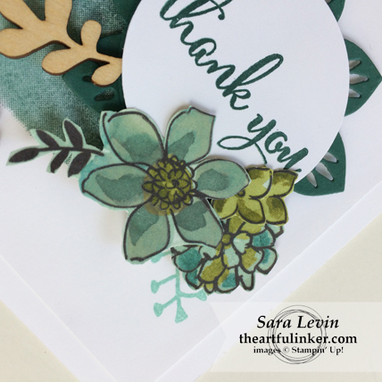 Love What You Do Layered Thank You with Share What You Love designer paper flowers from theartfulinker.com