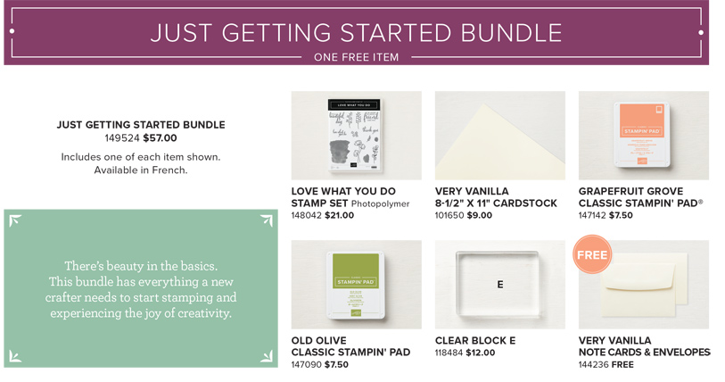 Share What You Love Early Release Just Getting Started Bundle from theartfulinker.com