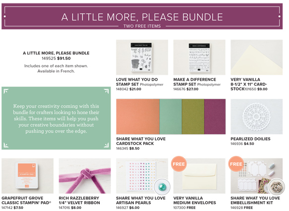 Share What You Love Early Release - A Little More Please Bundle - from theartfulinker.com