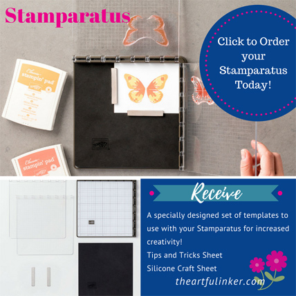 Order your Stamparatus with Sara Levin at theartfulinker.com and receive a set of specially designed templates, a tips and tricks sheet and a silicone craft mat. #stamparatus #theartfulinker theartfulinker.com