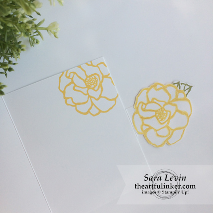 Stamping Sunday blog hop Beautiful Day fancy fold card - inside - from theartfulinker.com