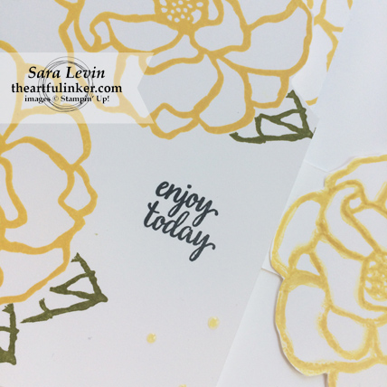 Stamping Sunday blog hop Beautiful Day card - Eastern Beauty sentiment - from theartfulinker.com
