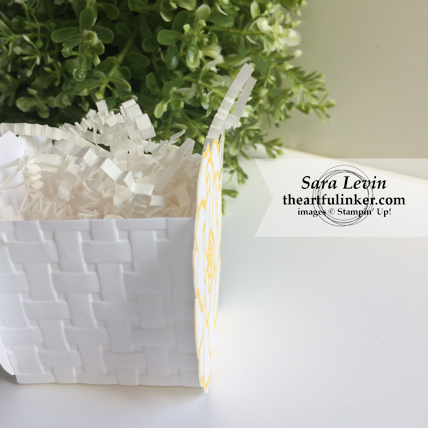 Stamping Sunday blog hop Beautiful Day favor box - side view - from theartfulinker.com