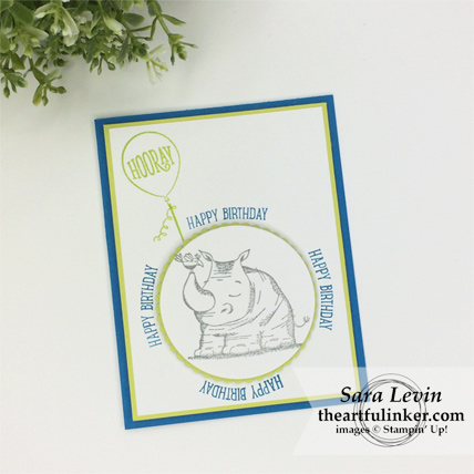 Stamping Sunday Blog Hop Stamparatus Animal Outing card from theartfulinker.com #stamparatus #animalouting