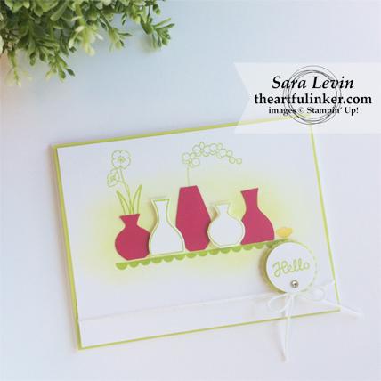 OSAT Blog Hop On the Red Carpet Varied Vases card from theartfulinker.com