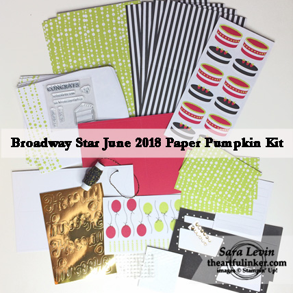 A Paper Pumpkin Thing Blog Hop Broadway Star Kit contents - from theartfulinker.com
