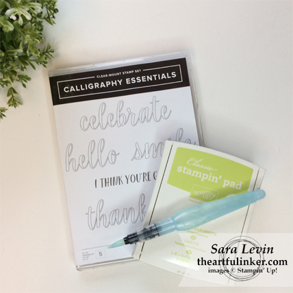 Calligraphy Essentials in Lemon Lime Twist from theartfulinker.com