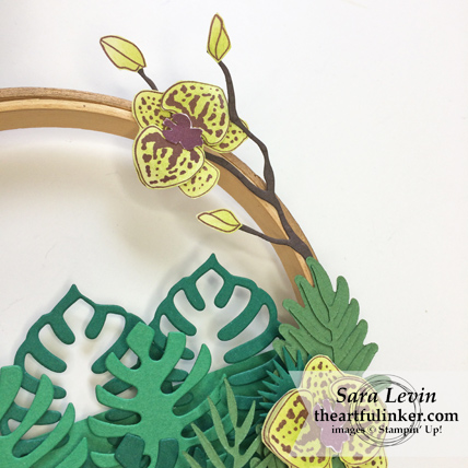 Home Decor SU Style Blog Hop Tropical Chic and Climbing Orchid Wreath - orchid detail - from theartfulinker.com