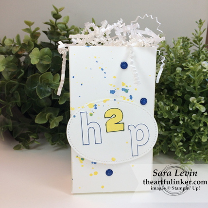 OSAT Blog Hop Lay It Out treat bag from theartfulinker.com