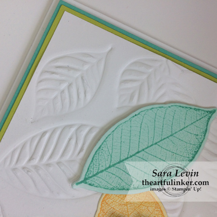 Rooted in Nature with Embossing Mats - embossing detail - from theartfulinker.om