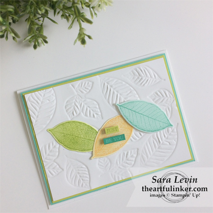 Rooted in Nature with Embossing Mats card from theartfulinker.com