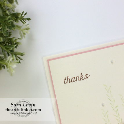 Sea of Textures in Blushing Bride - sentiment detail - from theartfulinker.com