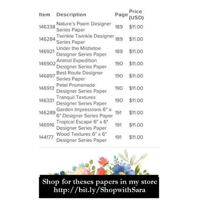 Stampin' Up! BOGO Designer Paper sale July 1 - July 31 http://bit.ly/ShopwithSara