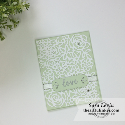 Stamping Sunday Blog Hop Abstract Impressions wedding card from theartfulinker.com