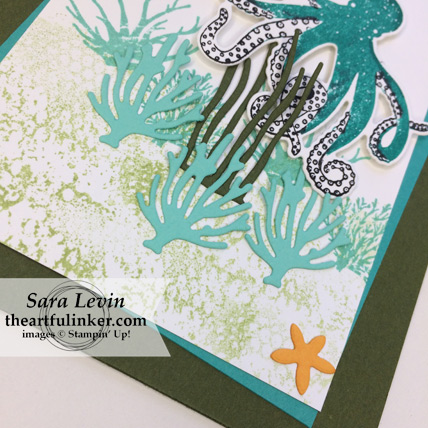 Stamping Sunday Blog Hop Sea of Textures card - bottom detail - from theartfulinker.com #seaoftextures
