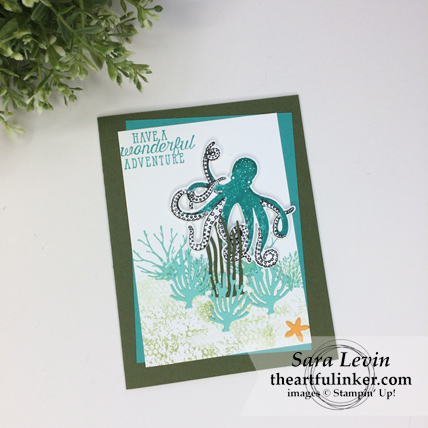 Stamping Sunday Blog Hop Sea of Textures card from theartfulinker.com #seaoftextures