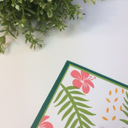 Tropical Chic for Paper Adventures Team Hop from theartfulinker.com