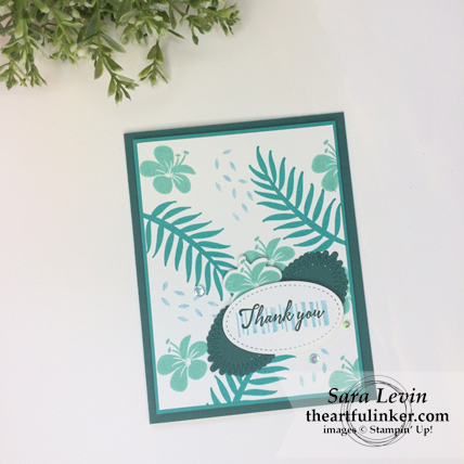 Tropical Chic for Paper Adventures Team Hop - in blues - from theartfulinker.com