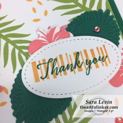 Tropical Chic for Paper Adventures Team Hop - sentiment detail - from theartfulinker.com