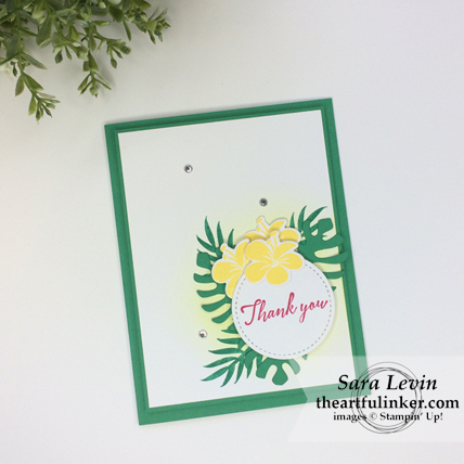 Tropica Chic with Call Me Clover card from theartfulinker.om