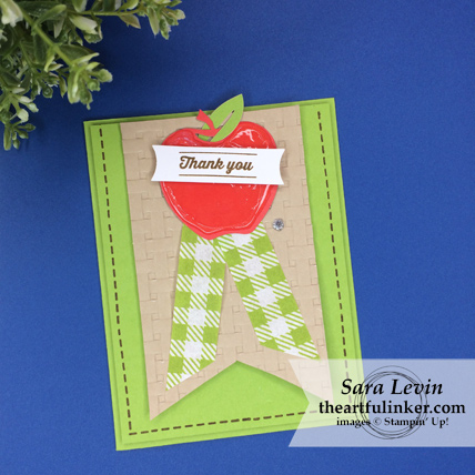 A Paper Pumpkin Thing Blog Hop Picnic Paradise alternate card for back to school or teacher thank you from theartfulinker.com