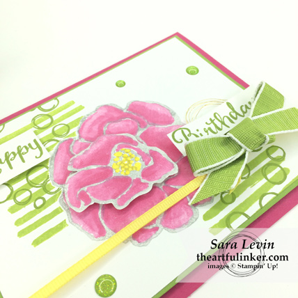 Beautiful Day with Playful Backgrounds birthday card - angled view - from theartfulinker.com