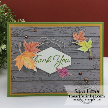 Blended Seasons Fall Thank You card from theartfulinker.com