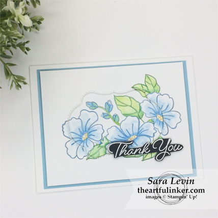 Clean and Simple Blended Seasons with thank you - from theartfulinker.com