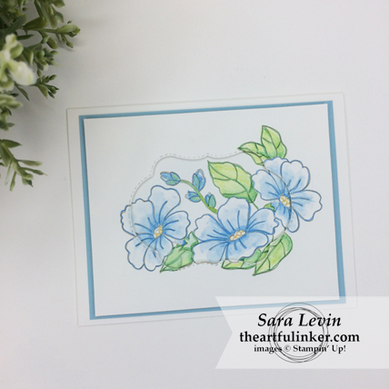 Clean and Simple Blended Seasons card from theartfulinker.com
