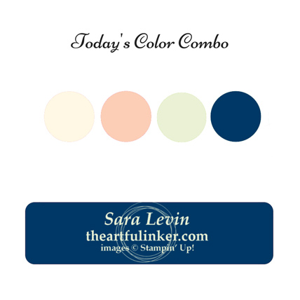 Darling Label Punch card color combo from theartfulinker.com