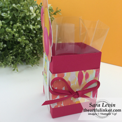 Hand Delivered Birthday Box - side view - from theartfulinker.com