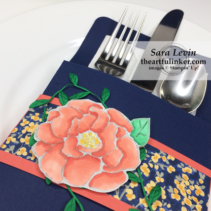 Home Decor SU Style Blog Hop Beautiful Day place setting detail from theartfulinker.com