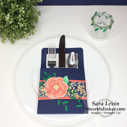 Home Decor SU Style Blog Hop Beautiful Day place setting from theartfulinker.com