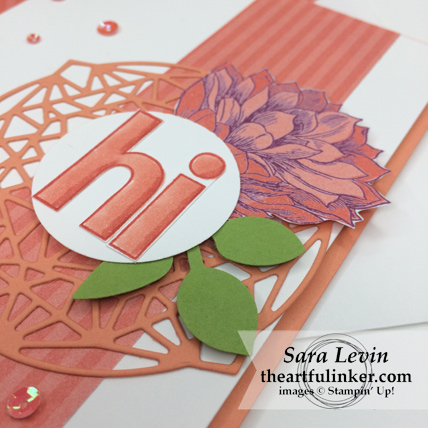 Lined Alphabet with Beautiful Layers card - detail - from theartfulinker.com