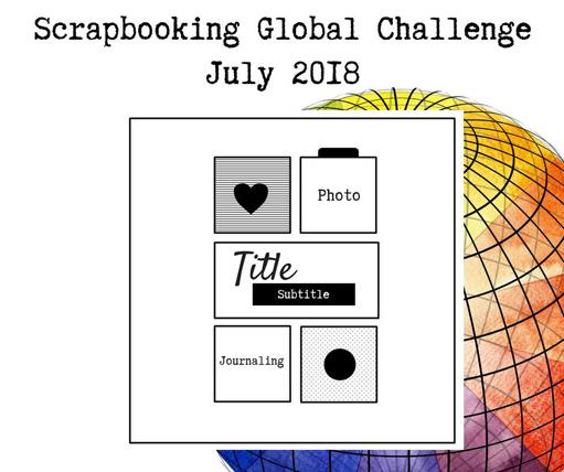 Scrapbooking Global Blog Hop July 2018 scrapbook sketch from theartfulinker.com