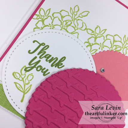 Southern Serenade with Petal Pair card - sentiment detail - from theartfulinker.om