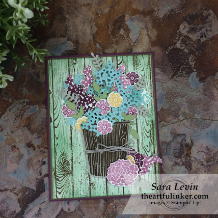 Creating Kindness Blog Hop Rustic Bouquet card using Beautiful Bouquet from Stampin' Up! - theartfulinker.com