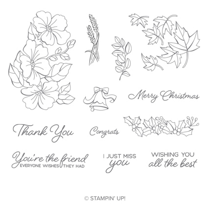 Blended Seasons Stamp Set - 149016 from theartfulinker.com