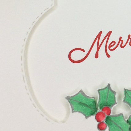 Blended Seasons Clean and Simple Christmas card from theartfulinker.com
