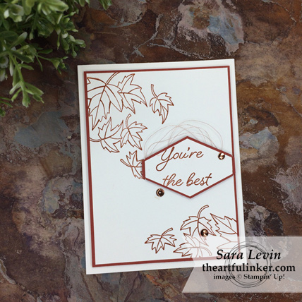 Clean and simple Blended Seasons in Cajun Craze card from theartfulinker.com