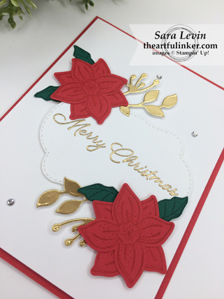 Pop of Petals with Blended Seasons Christmas card - angled view - from theartfulinker.com