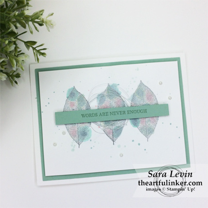 Rooted in Nature splatter card from theartfulinker.com