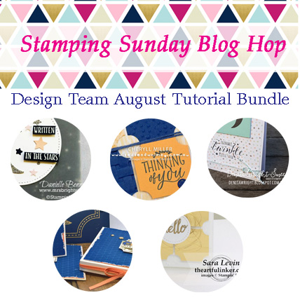 Stamping Sunday August 2018 Tutorial Bundle. Spend $40 in my store ( https://www.stampinup.com/ecweb/default.aspx?dbwsdemoid=2059166 ) and receive the bundle FREE