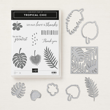 Tropical Chic Bundle 148399 Shop with Sara: https://www.stampinup.com/ecweb/product/148399/tropical-chic-clear-mount-bundle?dbwsdemoid=2059166