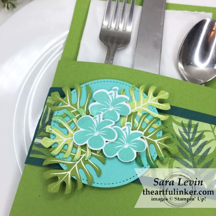 Tropical Chic Place Setting - detail view - from theartfulinker.com