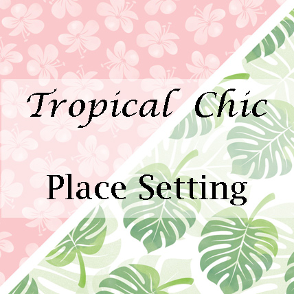 Tropical Chic Place Setting from theartfulinker.com
