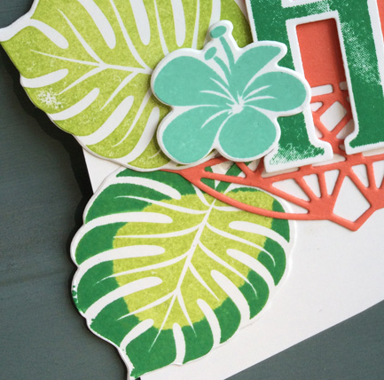 Tropical Chic Welcome Home banner from theartfulinker.com